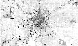 Mapa por satélite de Indianapolis, Indiana, los E.E.U.U., calles de la ciudad ilustración del vector