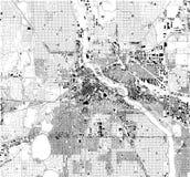 Mapa por satélite de Minneapolis, Minnesota, los E.E.U.U., calles de la ciudad