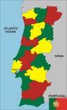 mapa Portugal Fotografia Royalty Free
