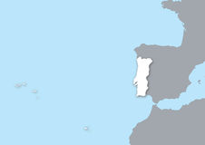 Mapa Portugal Imagens de Stock Royalty Free