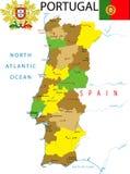 mapa Portugal Fotografia Stock
