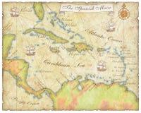 Mapa principal espanhol Imagens de Stock Royalty Free