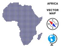 Mapa punteado de África Ilustración del Vector