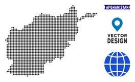 Mapa punteado de Afganistán Ilustración del Vector