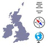 Mapa punteado de Gran Bretaña y de Irlanda ilustración del vector