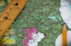 Mapa que planea Japón Tokio Fotografía de archivo