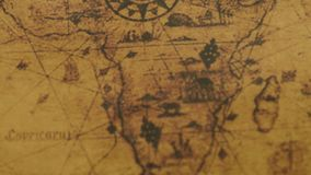 Mapa retro de los continentes de África metrajes