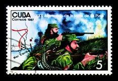 Mapa, revolucionários, cerco do La Plata, 30o serie do aniversário, Fotografia de Stock Royalty Free
