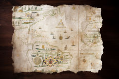 mapa rocznik obraz royalty free