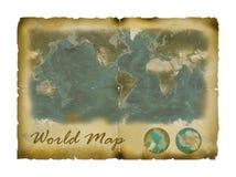 mapa rocznika świat Fotografia Royalty Free