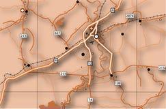 Mapa rodoviário Imagem de Stock