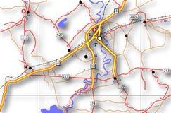 Mapa rodoviário genérico Fotografia de Stock Royalty Free