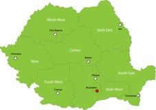mapa Romania Zdjęcia Royalty Free