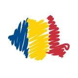 Mapa Romania do vetor Fotos de Stock Royalty Free