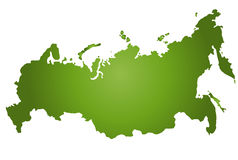 mapa Rosji Obraz Royalty Free
