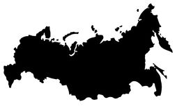 mapa Rosji Obraz Stock