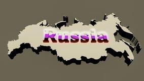 Mapa ruso Foto de archivo libre de regalías