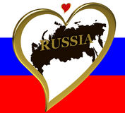 mapa Russia royalty ilustracja
