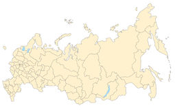 mapa Russia Zdjęcie Stock
