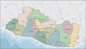 Mapa Salwador obrazy stock