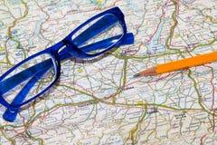 Mapa samochodowa Zdjęcie Stock