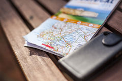 Mapa samochodowa Fotografia Stock