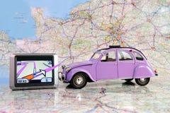 mapa samochodowa dwa Zdjęcie Stock