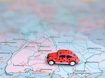 mapa samochodowy model Obrazy Royalty Free