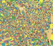 Mapa satélite do centro de Milão, de Itália, cultural e histórico Mapa e centro da cidade de ruas ilustração do vetor