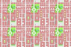 Mapa sem emenda da cidade. ilustração stock