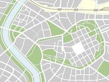 Mapa sem nome da cidade Fotos de Stock Royalty Free