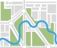 Mapa sem nome da cidade ilustração do vetor