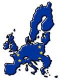 Mapa simplificado de los países miembros de sindicalista europeos 2018 libre illustration