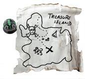 mapa skarb Obrazy Royalty Free