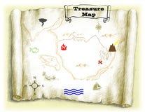mapa skarb Fotografia Stock