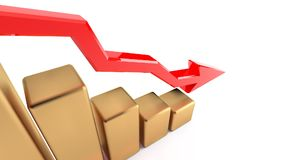 Mapa spada dochody, straty przedsięwzięcie, kryzys dochody 18 ilustracja wektor