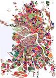 Mapa St Petersburg, Rusia Fotografía de archivo