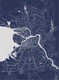 Mapa St Petersburg, Rusia Imagenes de archivo