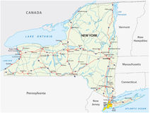 mapa stan nowy drogowy York ilustracji