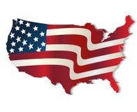Mapa Stany Zjednoczone Ameryka kolorów żywy logo Fotografia Royalty Free