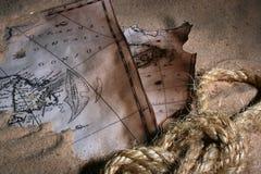 mapa stara Obrazy Royalty Free