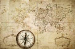 mapa stara Zdjęcie Stock