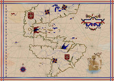 mapa stara Obrazy Stock