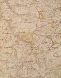 mapa stara Fotografia Stock