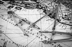 mapa stara Zdjęcia Royalty Free