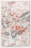mapa stary Salzburg Zdjęcia Royalty Free