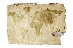 mapa stary świat ilustracja wektor
