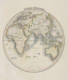 mapa stary świat Fotografia Royalty Free