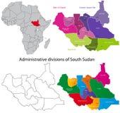 Mapa sul de Sudão