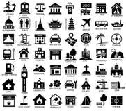 Mapa symbolu ikony set ilustracja wektor